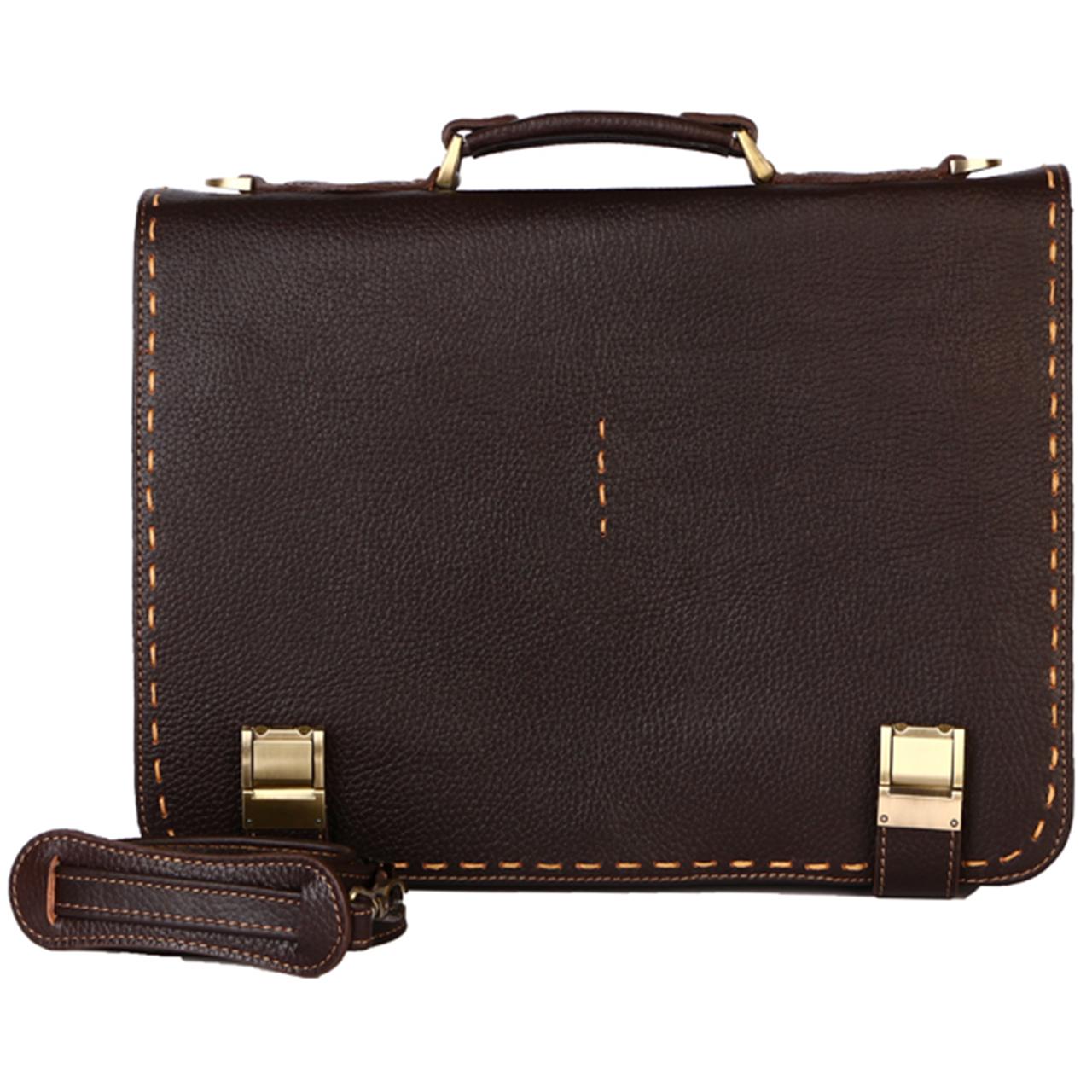 کیف اداری رویال چرم کدBL5-DarkBrown