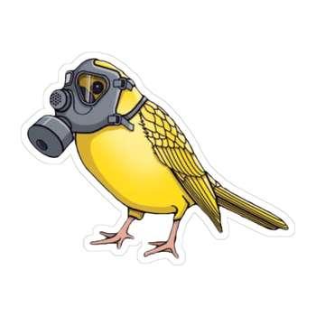 استیکر لپ تاپ طرح پرنده مدل pr09