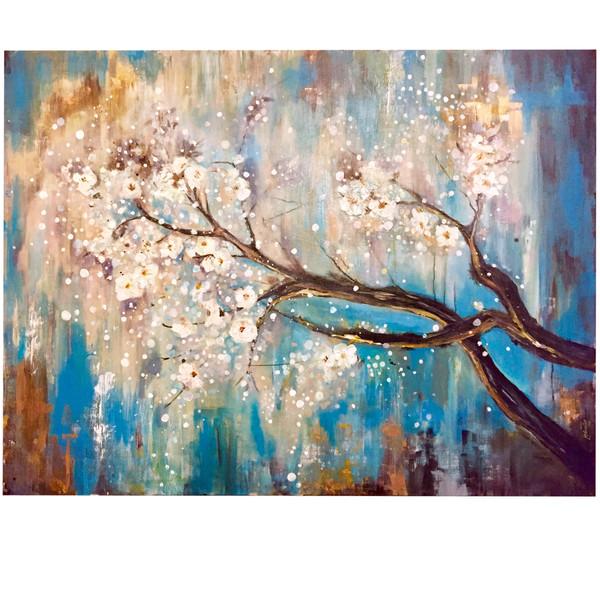 تابلو نقاشی اکرولیک طرح شکوفه های گیلاس کد ۰۲۰۴