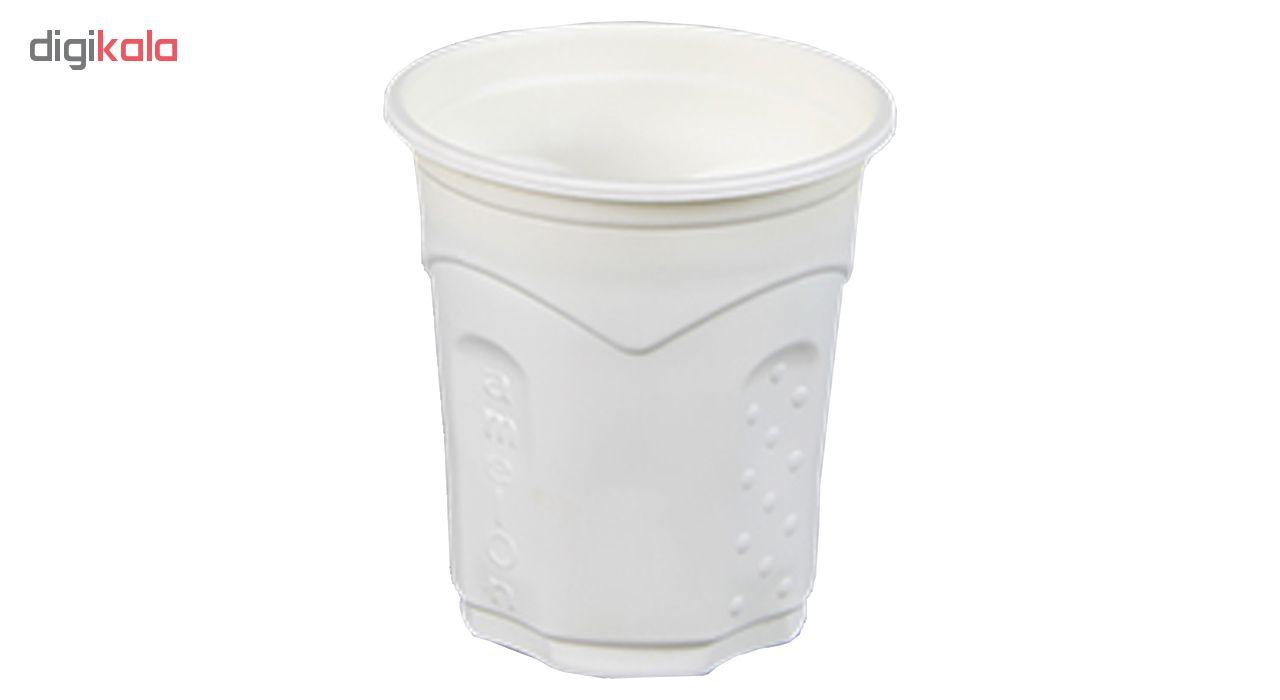 لیوان یکبار مصرف گیاهی آملون مدل AML-LIV200-24-2 بسته 48 عددی