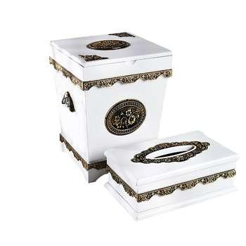 ست سطل و جا دستمال کاغذی مدل رویال کد 700