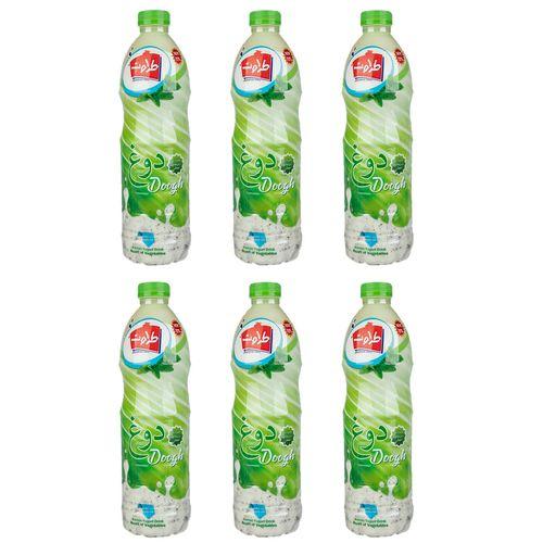 دوغ همراه با سبزیجات معطر طراوت مقدار 1.5 لیتر بسته 6 عددی