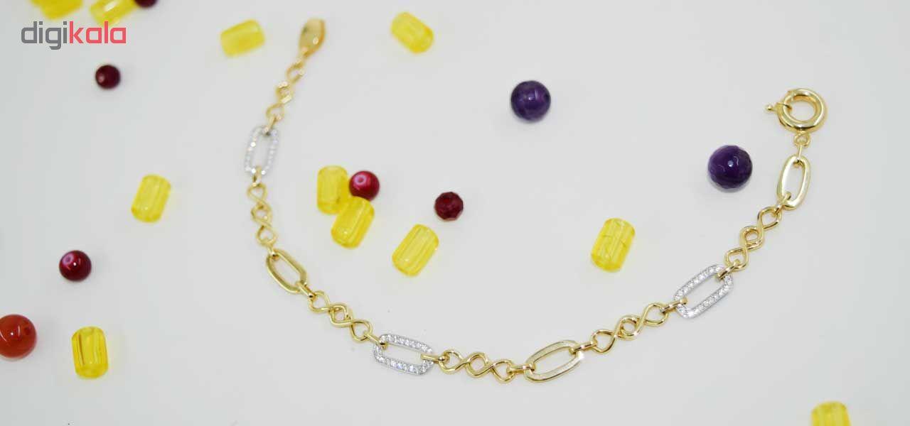 دستبند طلا 18 عیار کانیار گالری مدل DH12