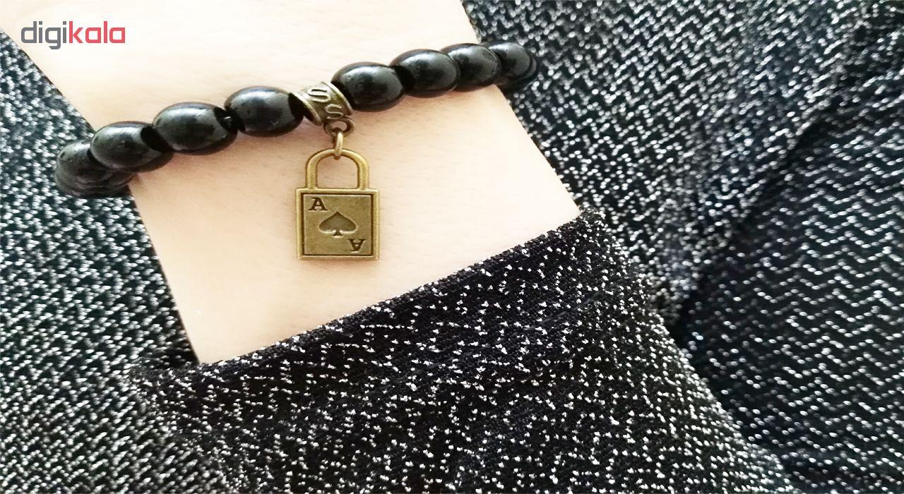 دستبند زنانه لاچو طرح قفل کد 2019