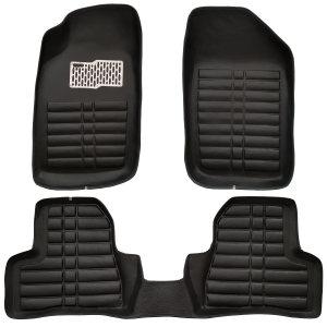 کفپوش سه بعدی چرمی ( پشت نمدی ) خودرو مناسب برای پژو 206