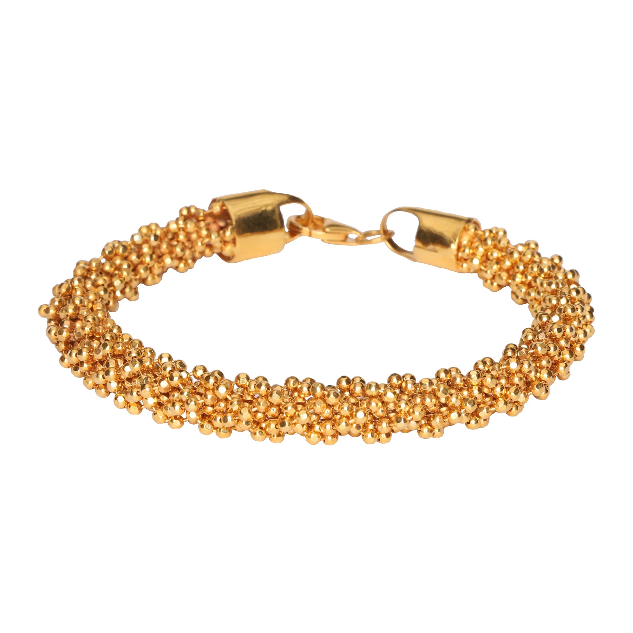 قیمت دستبند طلا 18 عیار گوی گالری مدل G165