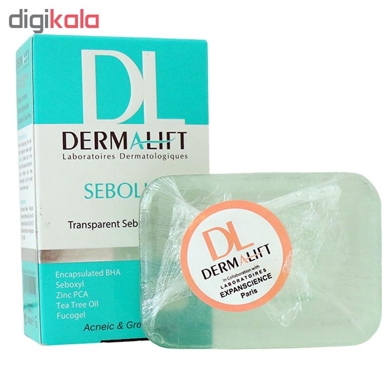 پن شفاف کاهش دهنده چربی پوست درمالیفت مدل Sebolift وزن 100 گرم