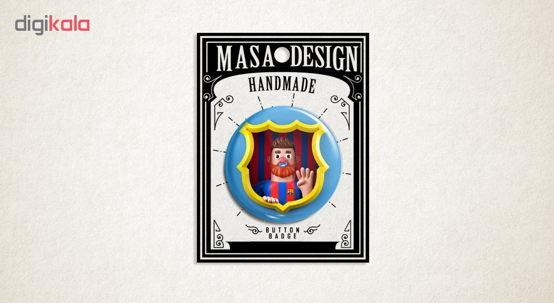 پیکسل ماسا دیزاین طرح مسی فوتبال بارسلونا کد AS514