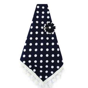 دستمال سر دخترانه مدل آیسا کد 006 رنگ سرمه ای تک سایز
