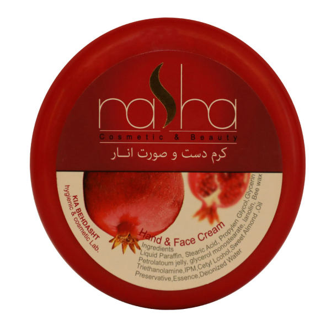 کرم مرطوب کننده ناشا مدل Pomegranate حجم 125 میلی لیتر