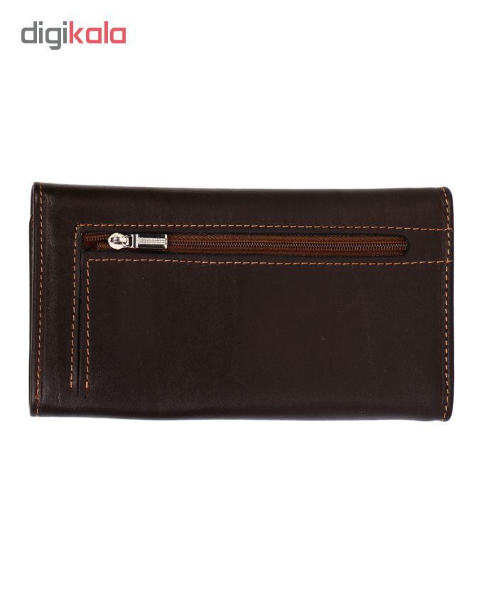 کیف پول زنانه رویال چرم کدW12