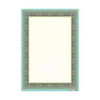 کاغذ تذهیب گلاسه مات خانه تذهیب کد 0652 سایز A5 بسته 100 عددی