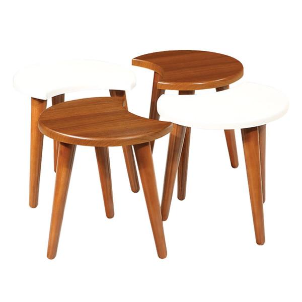 میز عسلی سهیل کد 0062GR مجموعه چهار عددی