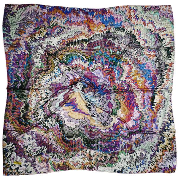 روسری زنانه آس گلداس طرح آبرنگی کد 379