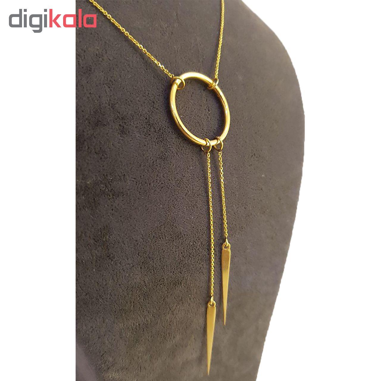 گردنبند طلا 18 عیار آزوریت کد 263