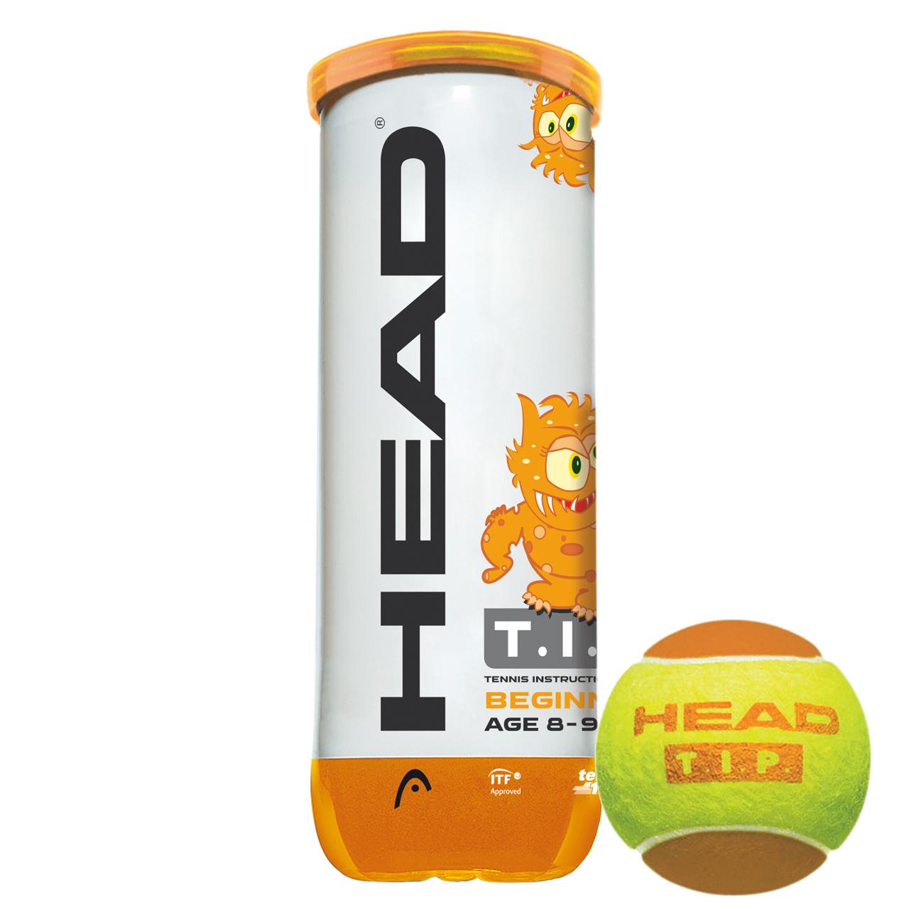 توپ تنیس هد مدل TIP ORANGE بسته 3 عددی