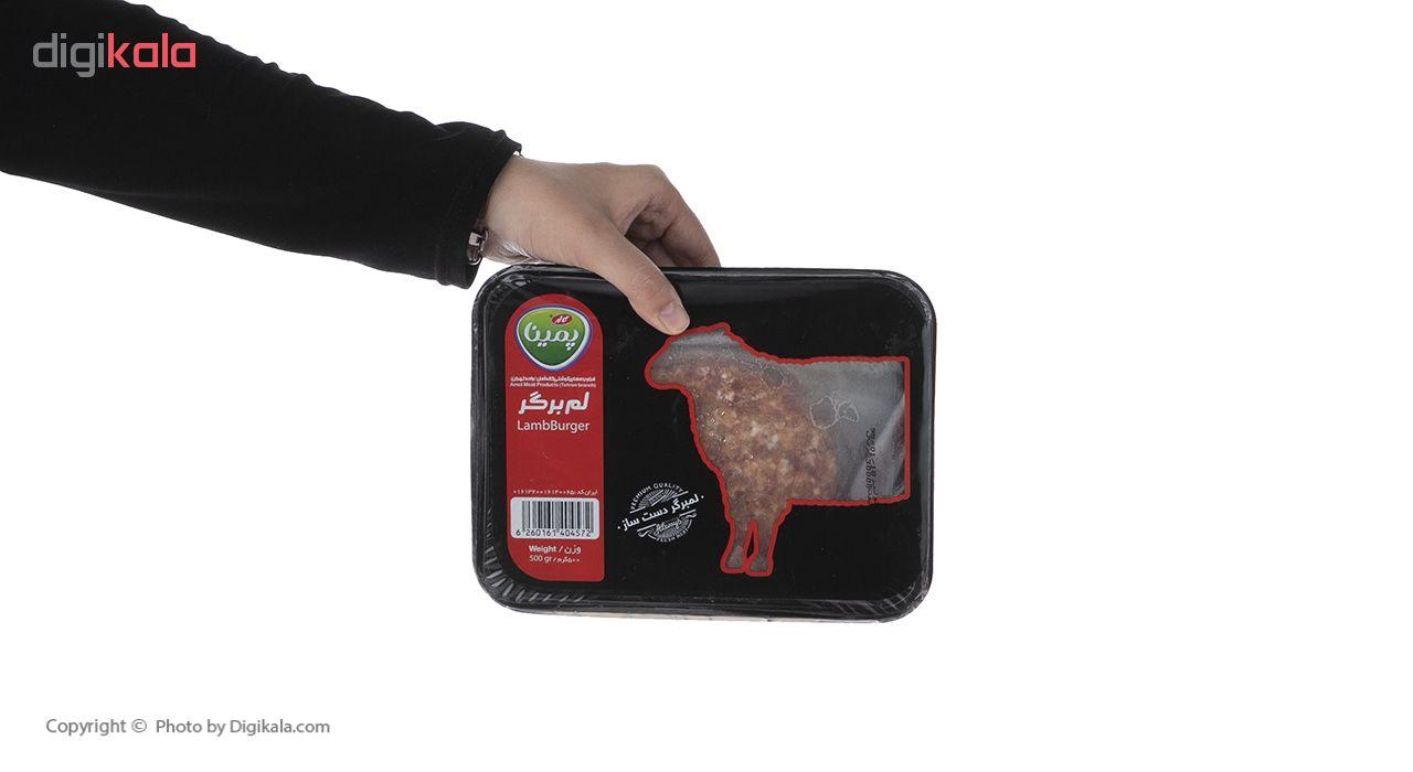 لم برگر منجمد پمینا کاله مقدار 500 گرم