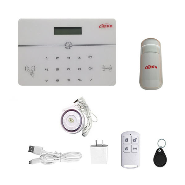 سیستم حفاظتی امنیتی دزدگیر بیسیم سیم کارتی هگزا کد 290