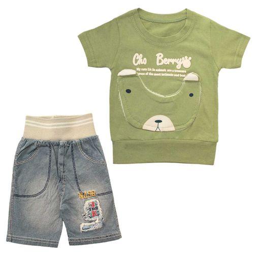 ست تی شرت و شلوارک پسرانه مدل 001-50