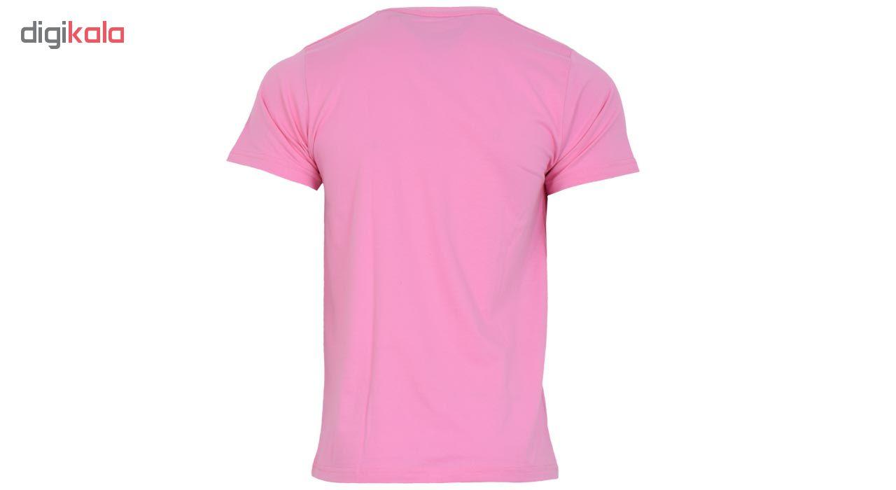 تیشرت ورزشی مردانه طرح یوونتوس مدل 10A رنگ صورتی
