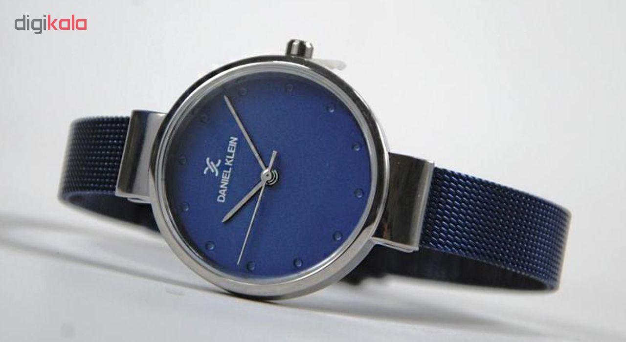 ساعت مچی عقربه ای زنانه دنیل کلین مدل DK11877-6 به همراه دستمال مخصوص برند کلین واچ