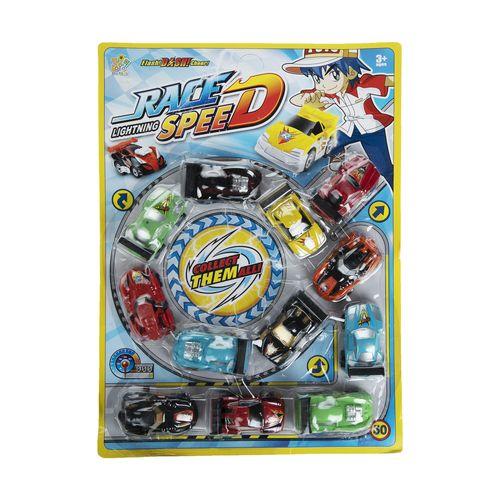 ست ماشین اسباب بازی ریس اسپید مدل 01 بسته 12عددی