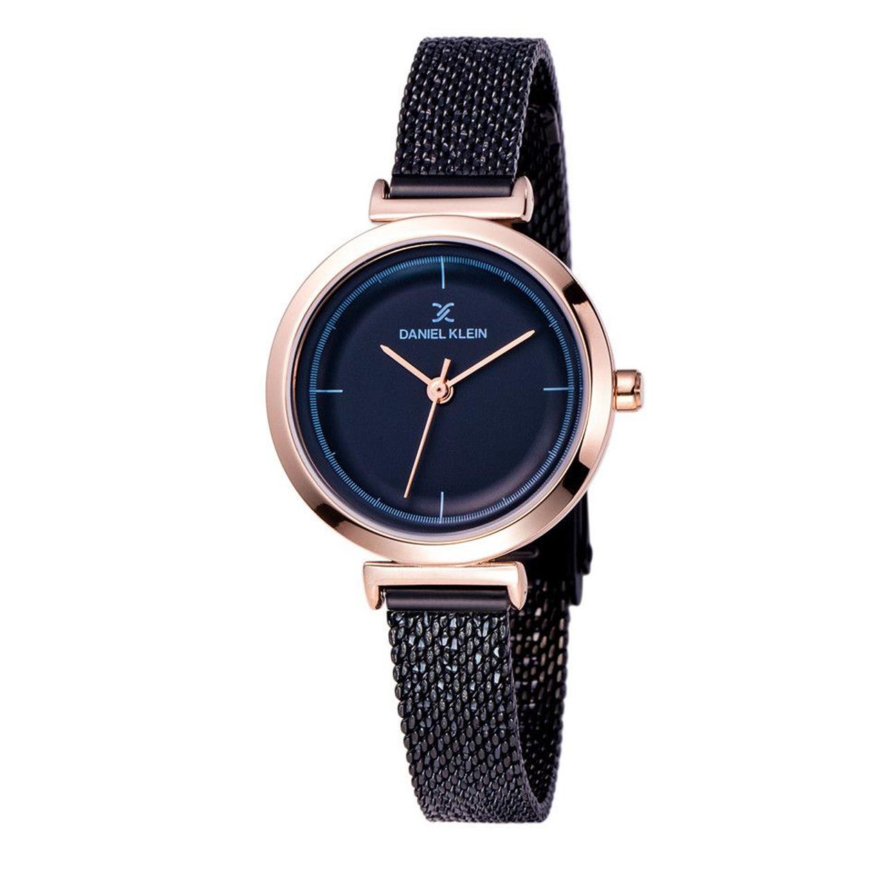 ساعت مچی عقربه ای زنانه دنیل کلین مدل dk11899-5 به همراه دستمال مخصوص برند کلین واچ 21