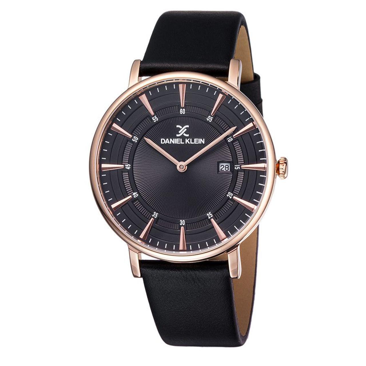 ساعت مچی عقربه ای مردانه دنیل کلین مدل dk11997-2 به همراه دستمال مخصوص برند کلین واچ 43