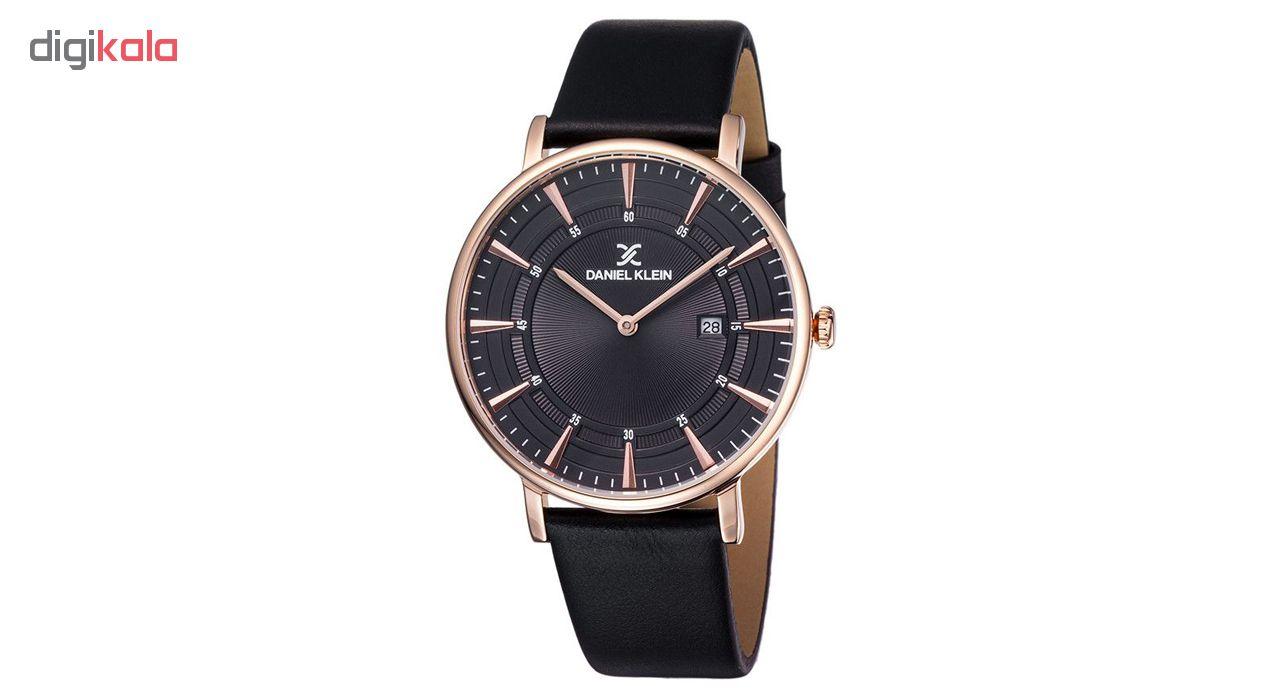 ساعت مچی عقربه ای مردانه دنیل کلین مدل dk11997-2 به همراه دستمال مخصوص برند کلین واچ