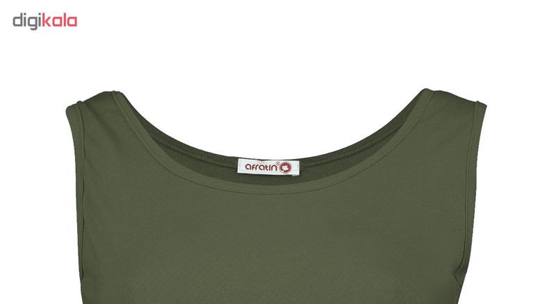 پیراهن زنانه افراتین کد 9641-3 رنگ یشمی
