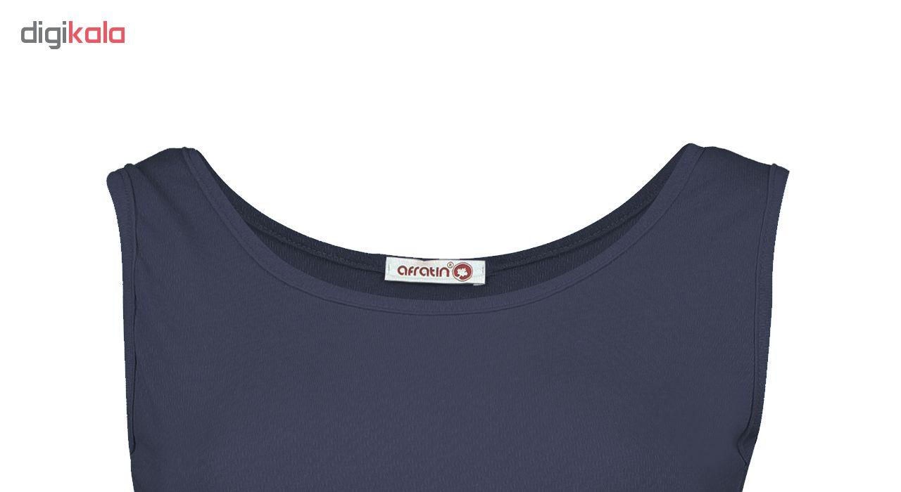 پیراهن زنانه افراتین کد 9641/3 رنگ سرمه ای