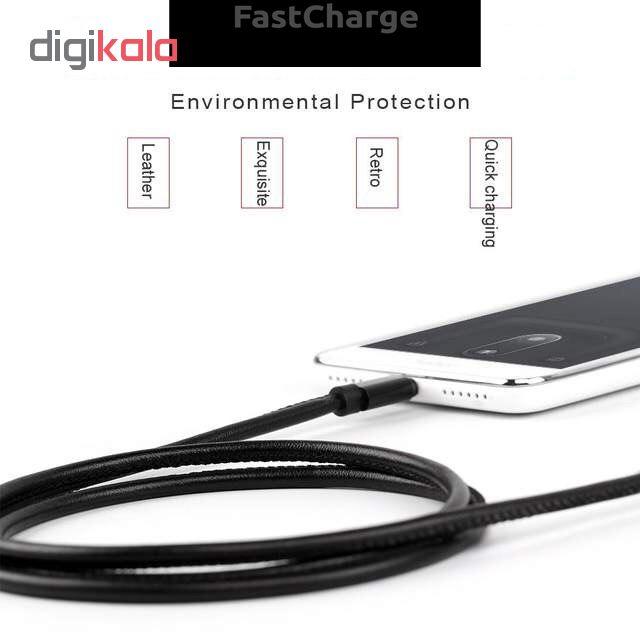 کابل تبدیل USB به microUSB مدل pu-sm52 طول 1 متر main 1 4