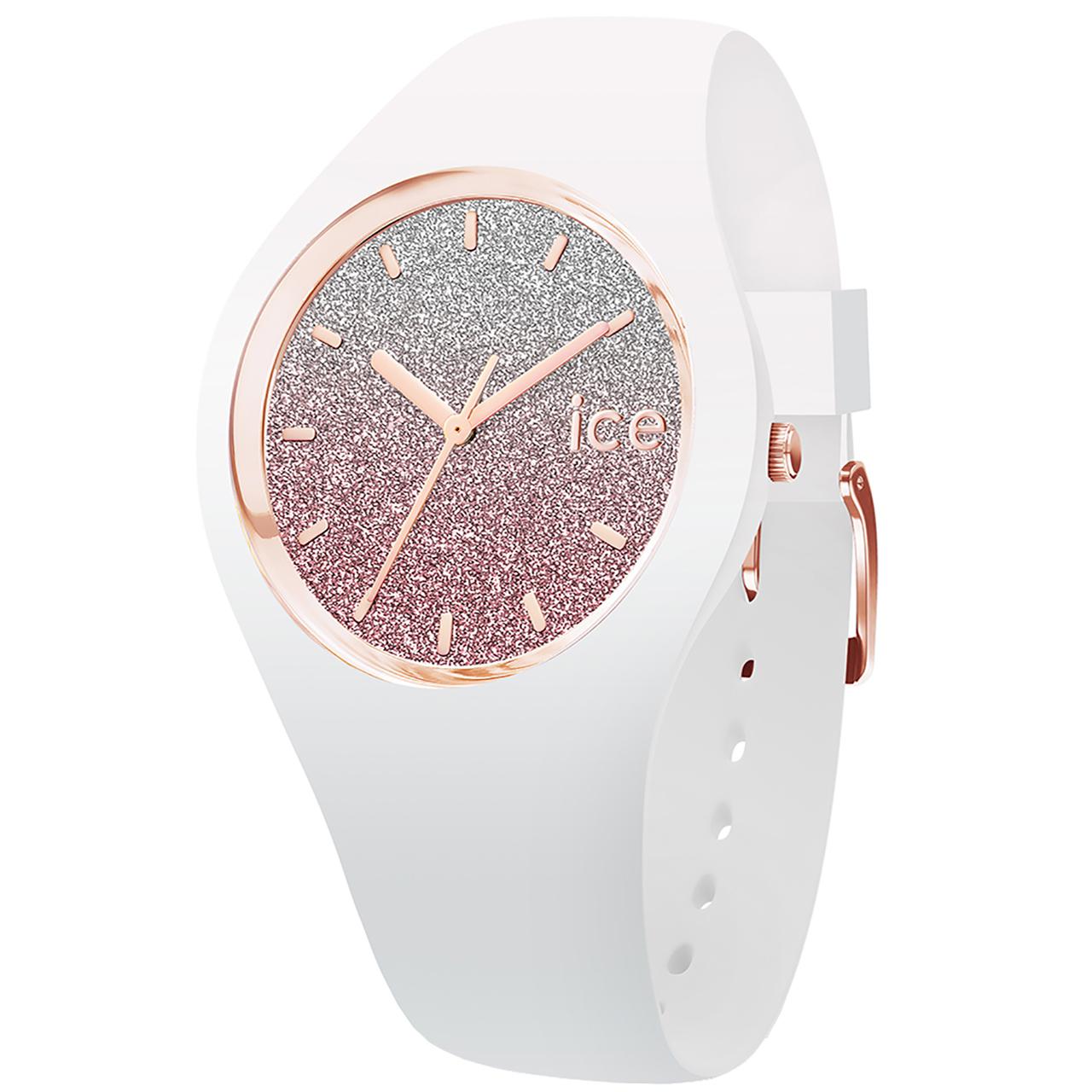خرید ساعت مچی عقربه ای آیس واچ مدل ICE LO-WHITE PINK-SMALL-3H