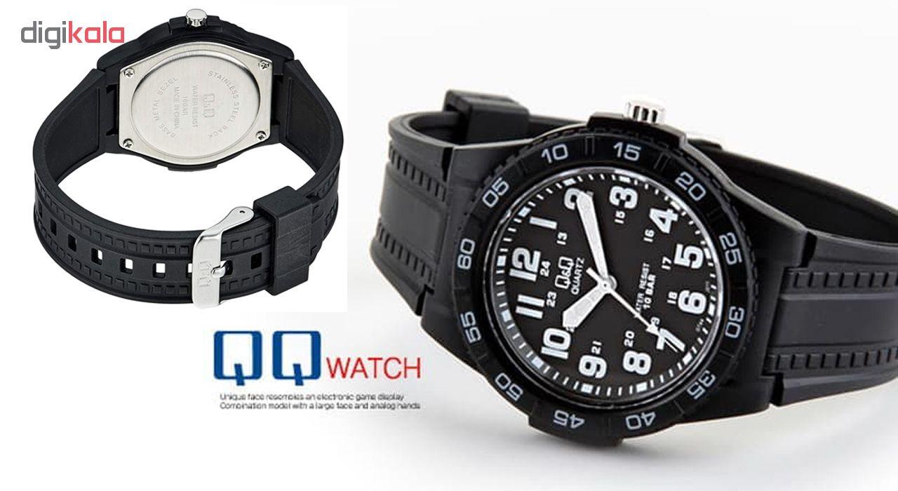 ساعت مچی عقربه ای مردانه کیو اند کیو مدل gt44j011y به همراه دستمال مخصوص برند کلین واچ