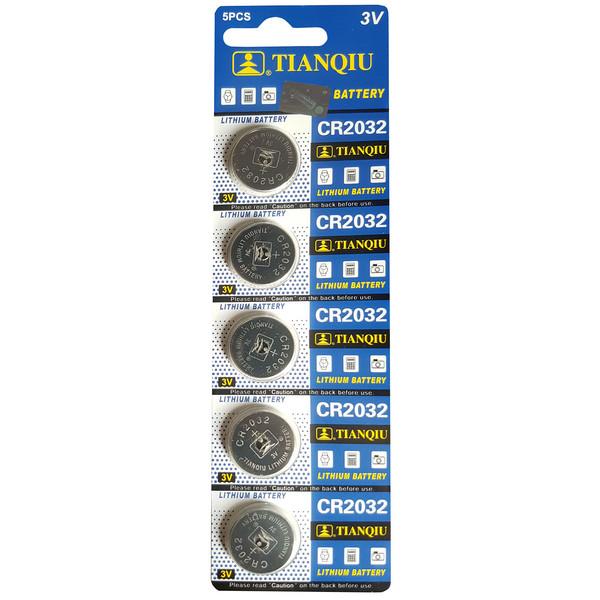 باتری سکه ای تیانکیو مدل CR2032 بسته 5 عددی