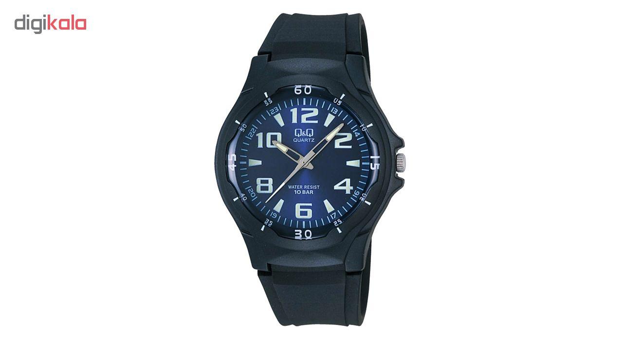 خرید ساعت مچی عقربه ای مردانه کیو اند کیو مدل vp58j003y به همراه دستمال مخصوص برند کلین واچ
