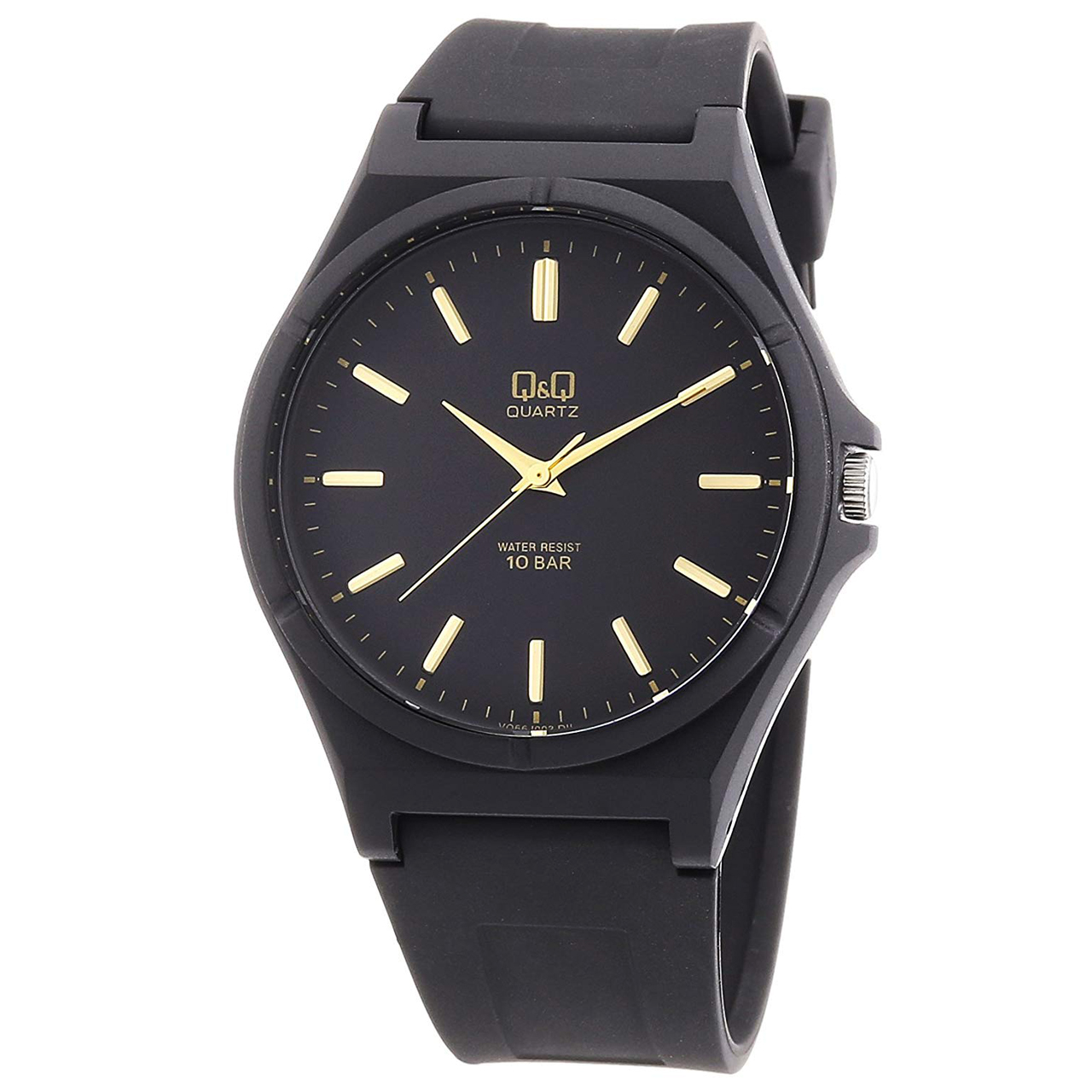 ساعت مچی عقربه ای مردانه کیو اند کیو مدل vq66j003y به همراه دستمال مخصوص برند کلین واچ