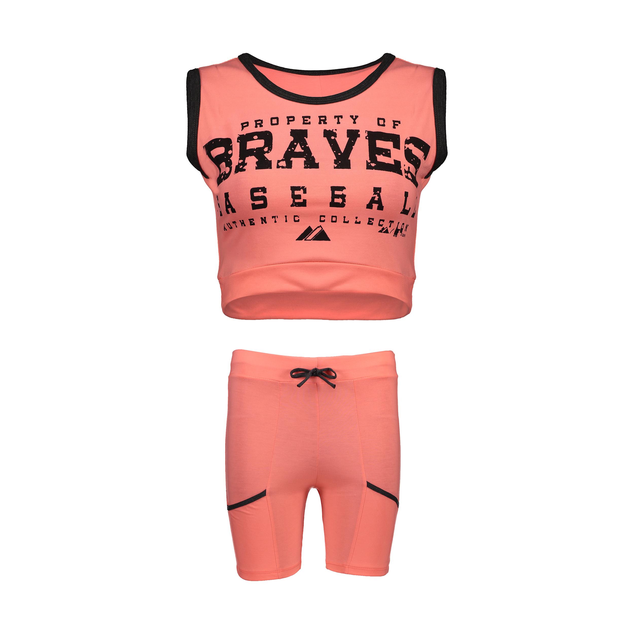 ست نیم تنه و شلوارک ورزشی زنانه مدل Braves-GB