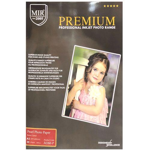 کاغذ چاپ عکس فتوگلاسه مات میر مدل Pearl-Rc سایز A3 بسته 20 عددی