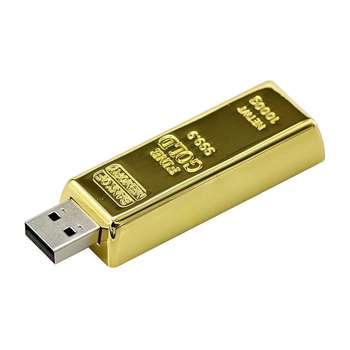 فلش مموری مدل Ultita-Bn طرح شمش طلا ظرفیت 32 گیگابایت
