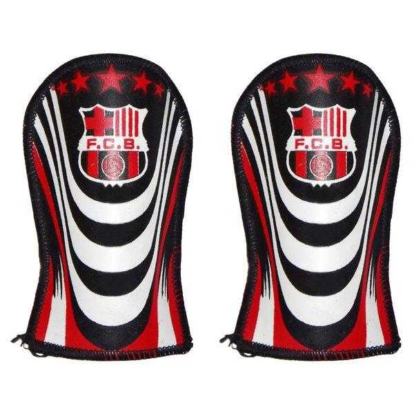 ساق بند فوتبال طرح بارسلونا مدل SG096 بسته 2 عددی