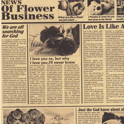 کاغذ کادو کرافت طرح روزنامه بسته 5 عددی
