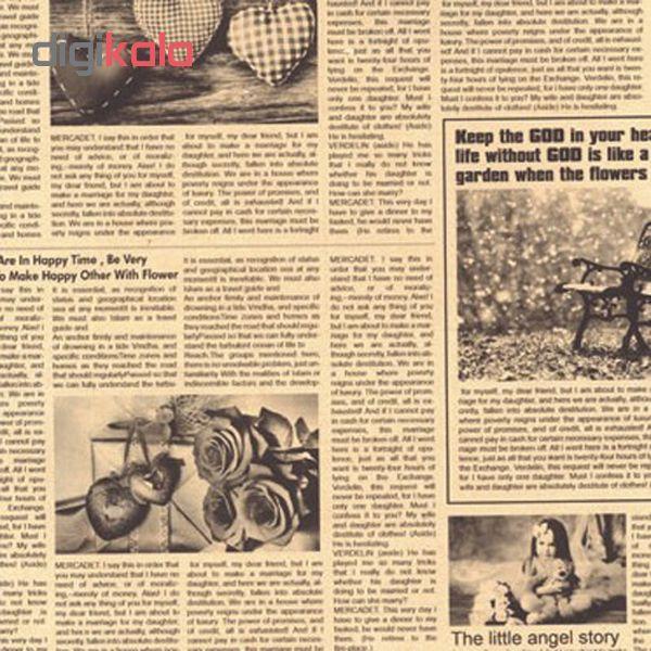 کاغذ کادو کرافت طرح روزنامه بسته 5 عددی   main 1 1