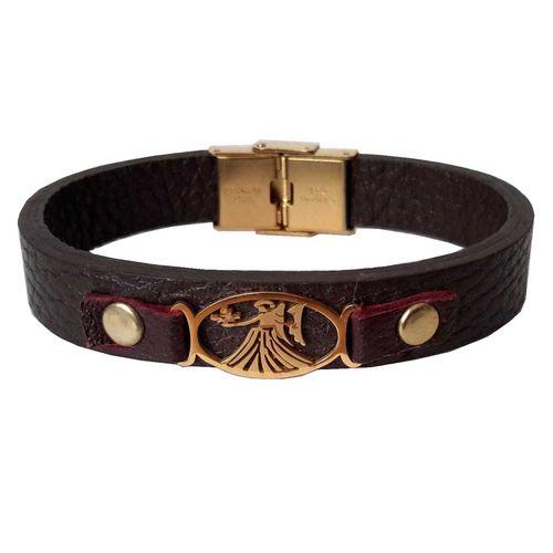 دستبند چرمی مانی چرم طرح ماه تولد شهریور کد BL-176