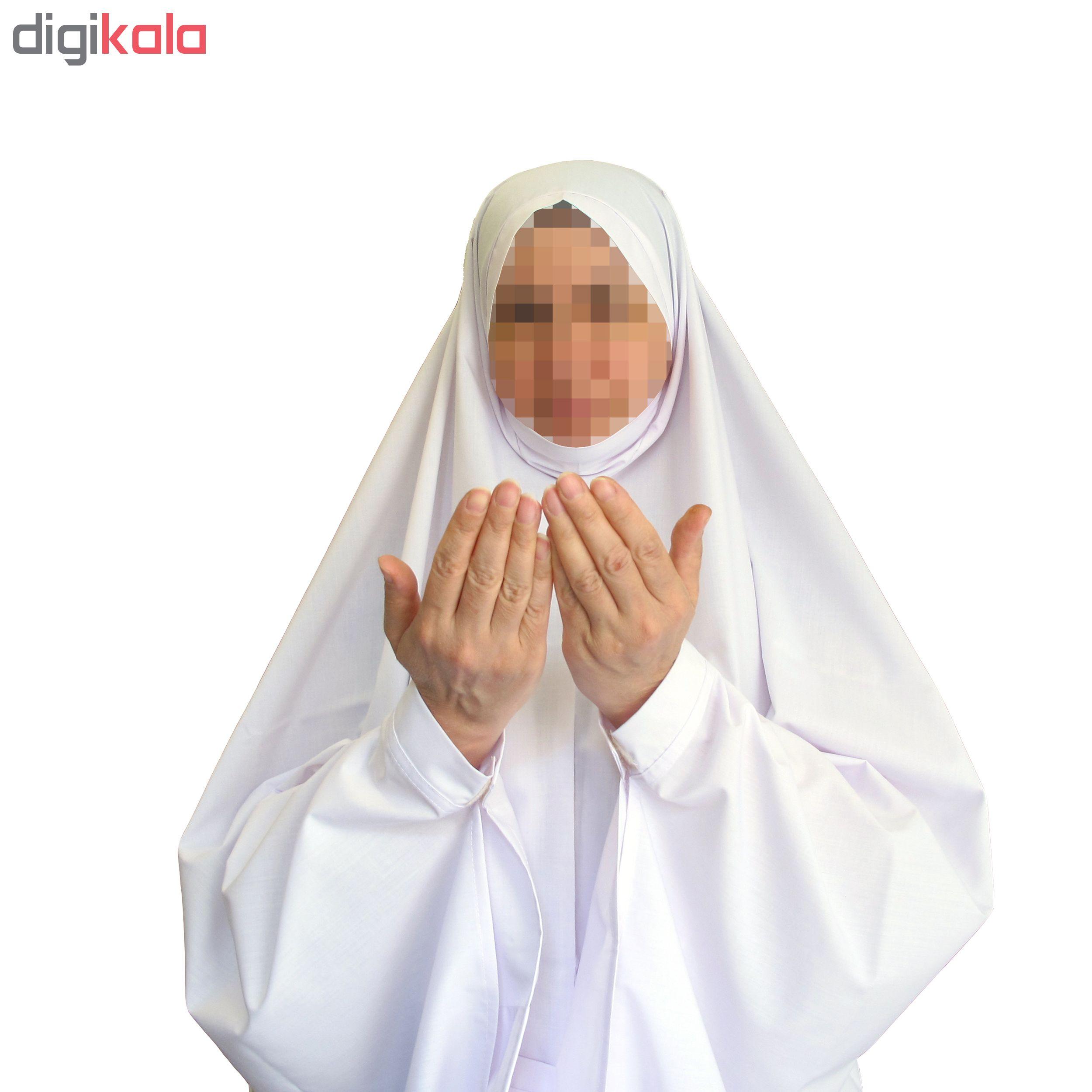 چادر نماز تترون نخی طرح احرام قد ۱۵۵ تا ۱۶۵ کد 101