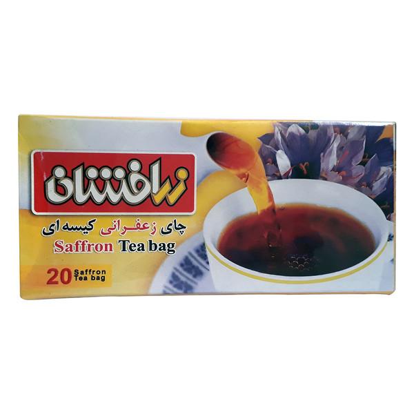 چای زعفرانی کیسه ای زرافشان بسته 20 عددی