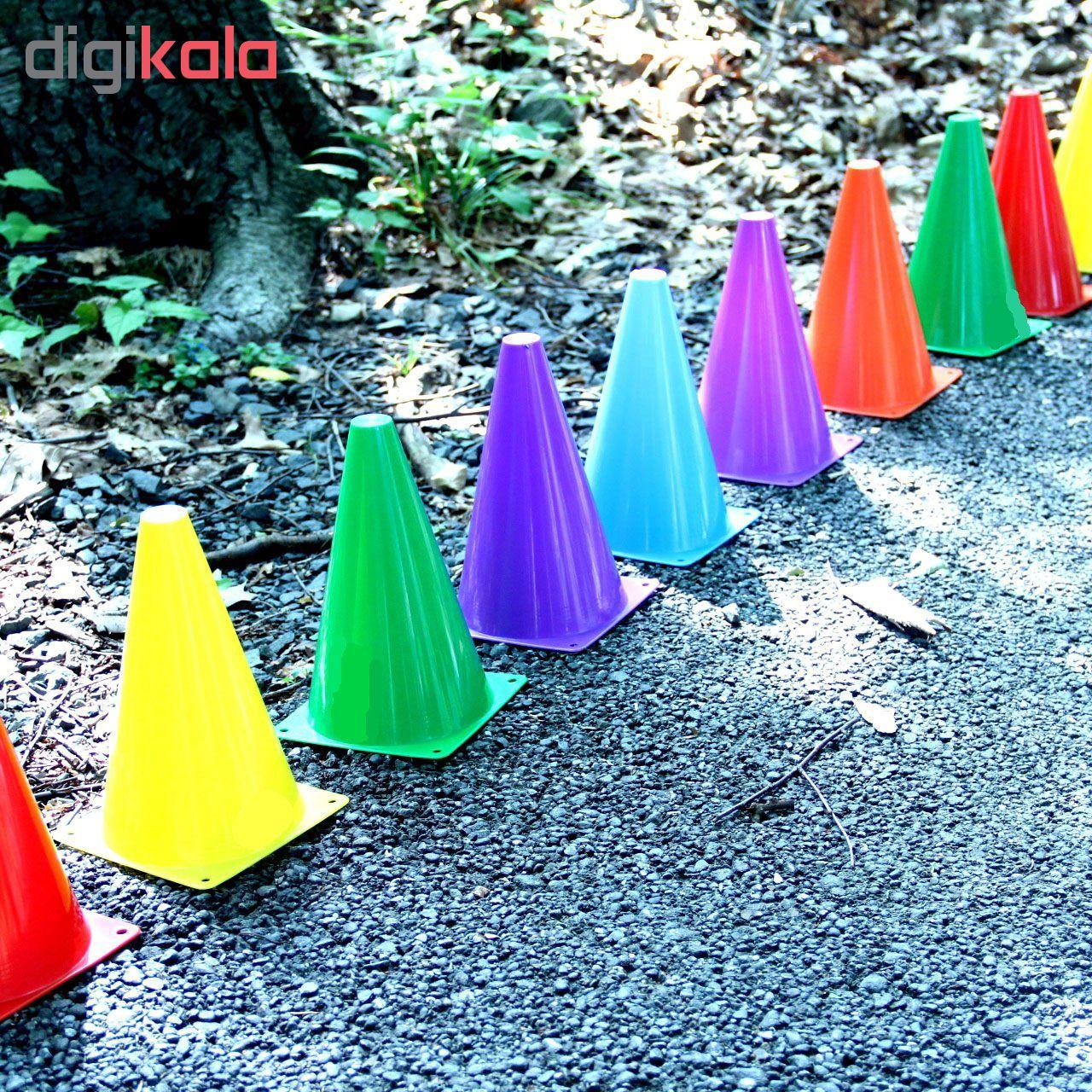 مانع تمرین مدل Training Cones 2020 در 5 رنگ مجموعه 15 عددی به همراه پاوربالانس main 1 5