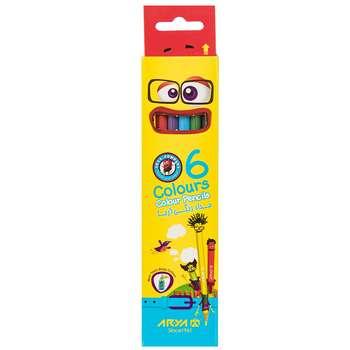 مداد رنگی 6 رنگ آریا مدل 3011