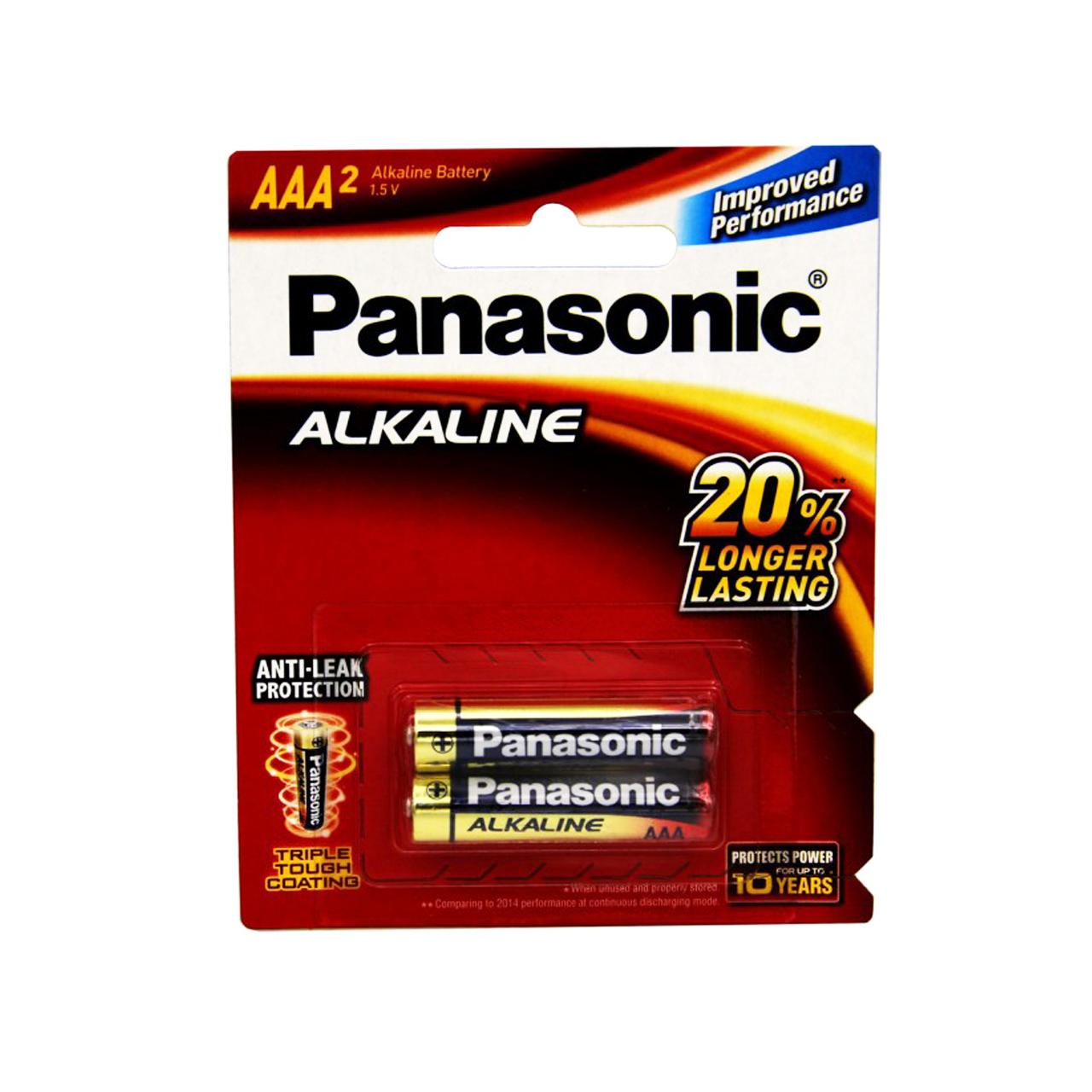 باتری نیم قلمی پاناسونیک مدل  ALK 2 بسته 2 عددی