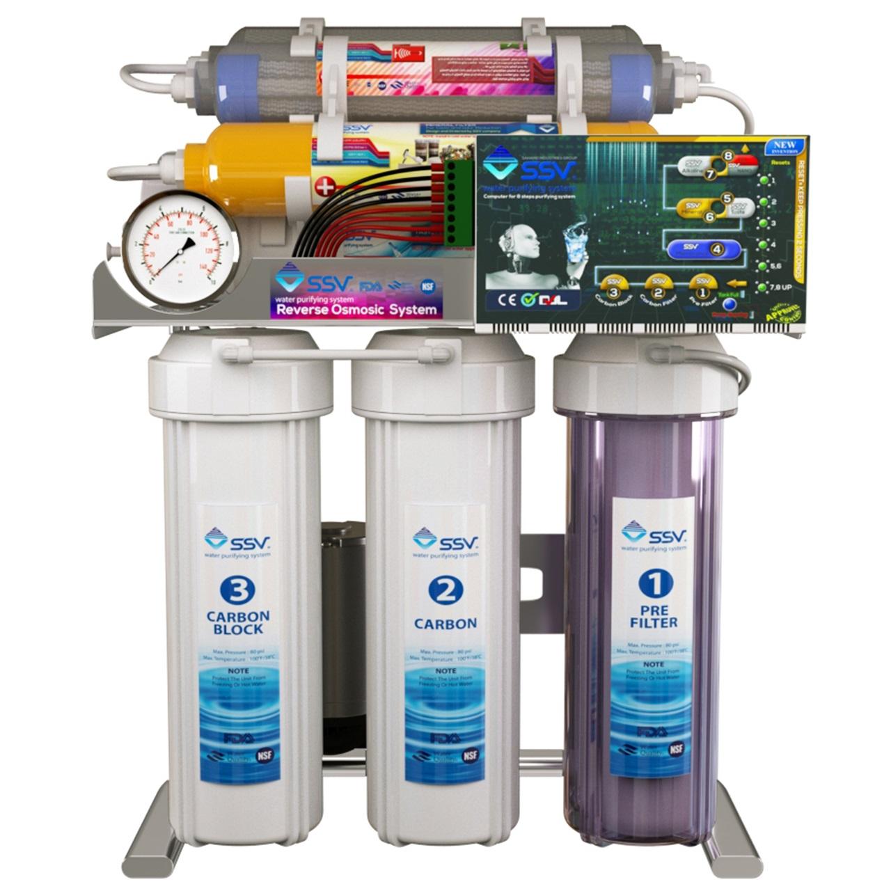 دستگاه تصفیه کننده آب خانگی اس اس وی مدل Smart SuperSpring S1000